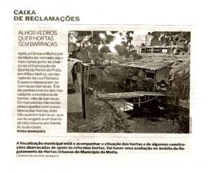 Alhos Vedros quer hortas sem barracas