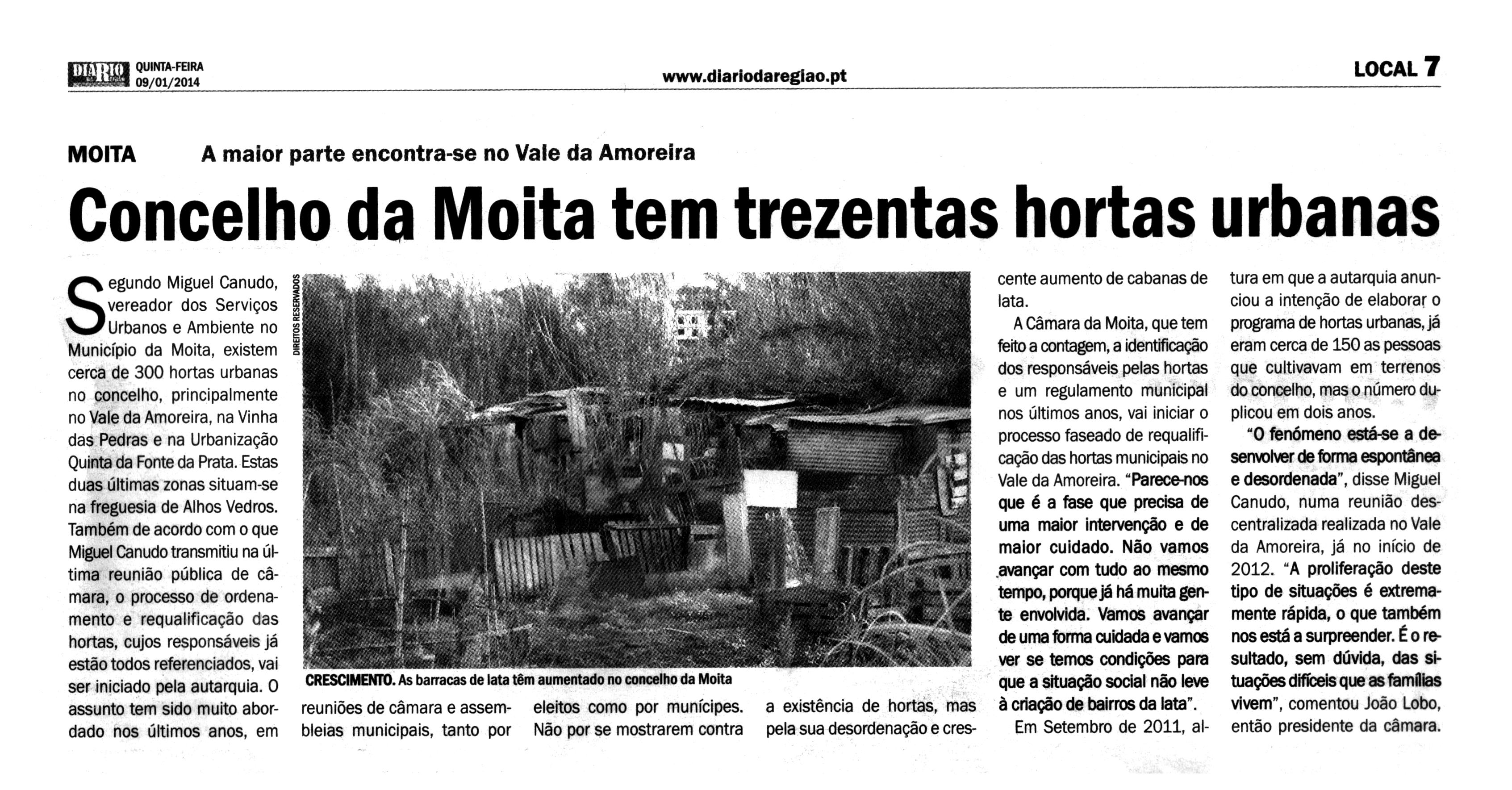 Concelho da Moita tem trezentas hortas urbanas