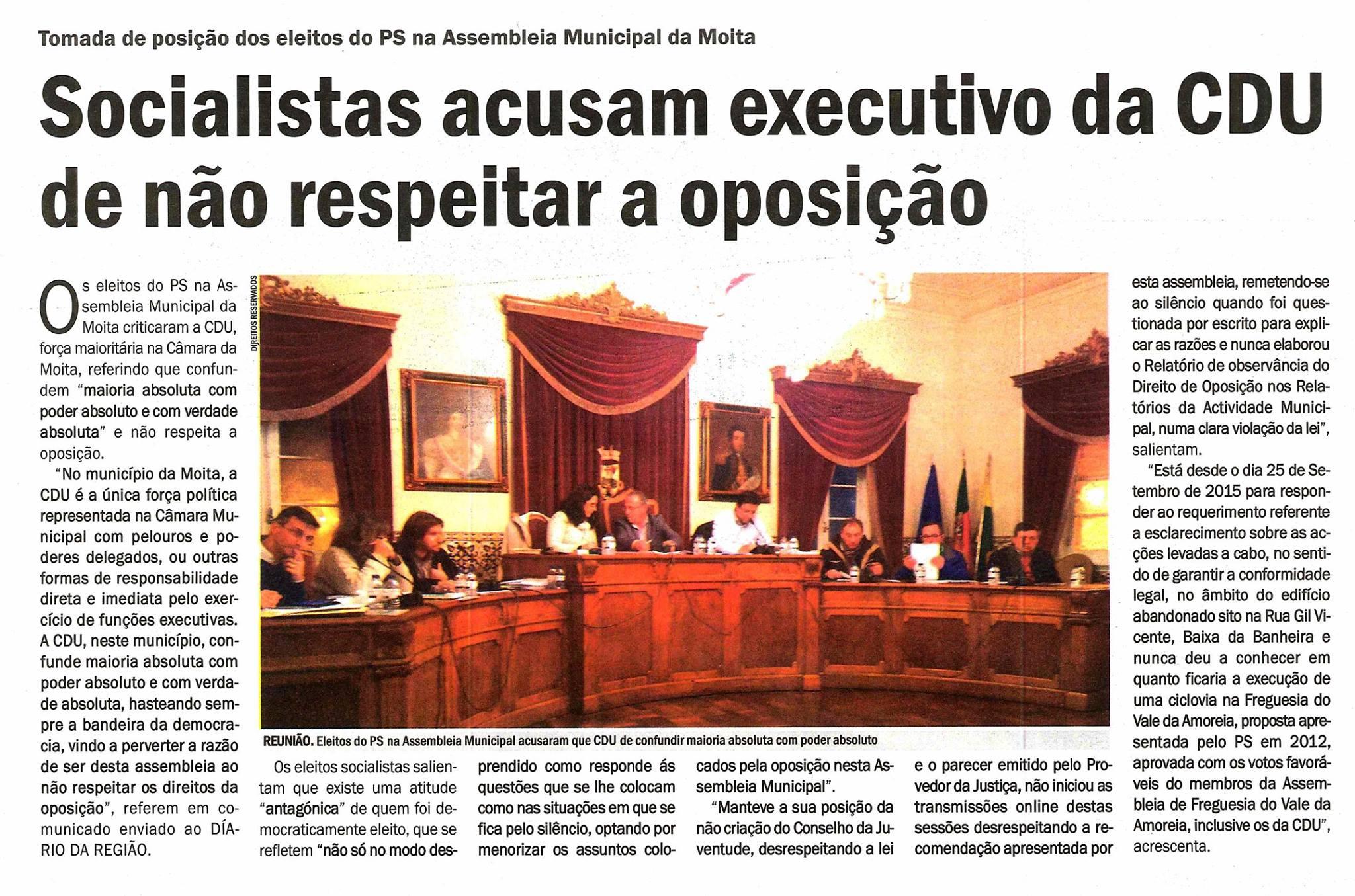 Artigo do Diário da Região de dia 10 de Março de 2016