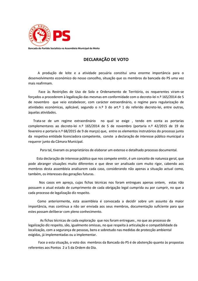 Declaração de Voto [30-06-2017]