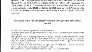 Convocatoria para as Eeleições Internas